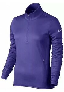 33fd971566fd Details about Nike Golf Women s Therma-Fit 1 2-Zip Pullover Long Sleeve Jacket  Purple