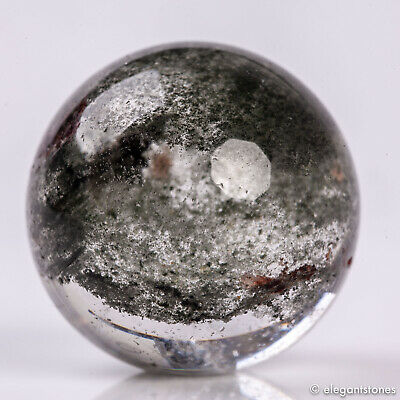 21g25mm Natural Lodolite/Garden/Phantom/Ghost Quartz Crystal Sphere Healing  Ball