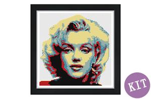 Cross Stitch Kit Marilyn Monroe Pop Art