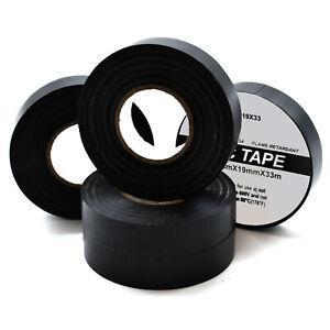 2-X-19mm-X-33m-Negro-Electrico-PVC-Aislante-Cinta-Aislante-Retardante-de-llama
