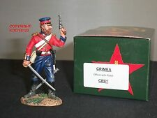 KING AND COUNTRY CR01 CRIMEA BRITISH INFANTRY OFFICER WITH PISTOL TOY SOLDIER