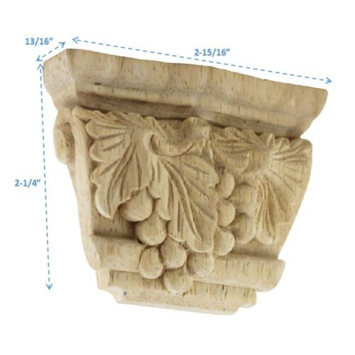 """Rubberwood Unfinished Corbel 2.3/"""" Inch Height x  2.92/"""" Wide"""