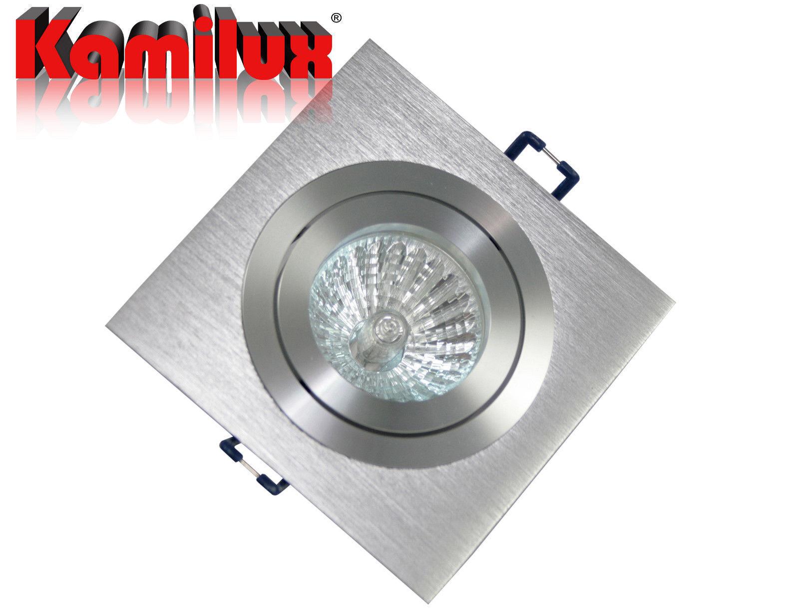1-20er Set Einbaustrahler & dimmbares Leuchtmittel & GU10 Fassung schwenkb. 230V     | Günstige Preise  | Gute Qualität  | Feinbearbeitung