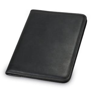 image is loading zippered portfolio binder leather business professional folder notepad