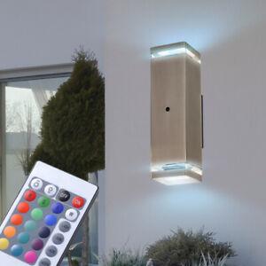 LED RGB area Esterna Lampada Parete Lampada Terrazza rilevatore di movimento telecomando