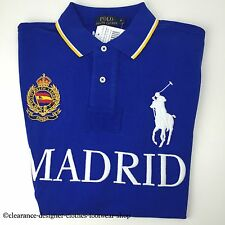 RALPH LAUREN POLO BIG PONY MADRID CITIES BLUE TOP T-SHIRT SIZE LARGE RRP £115