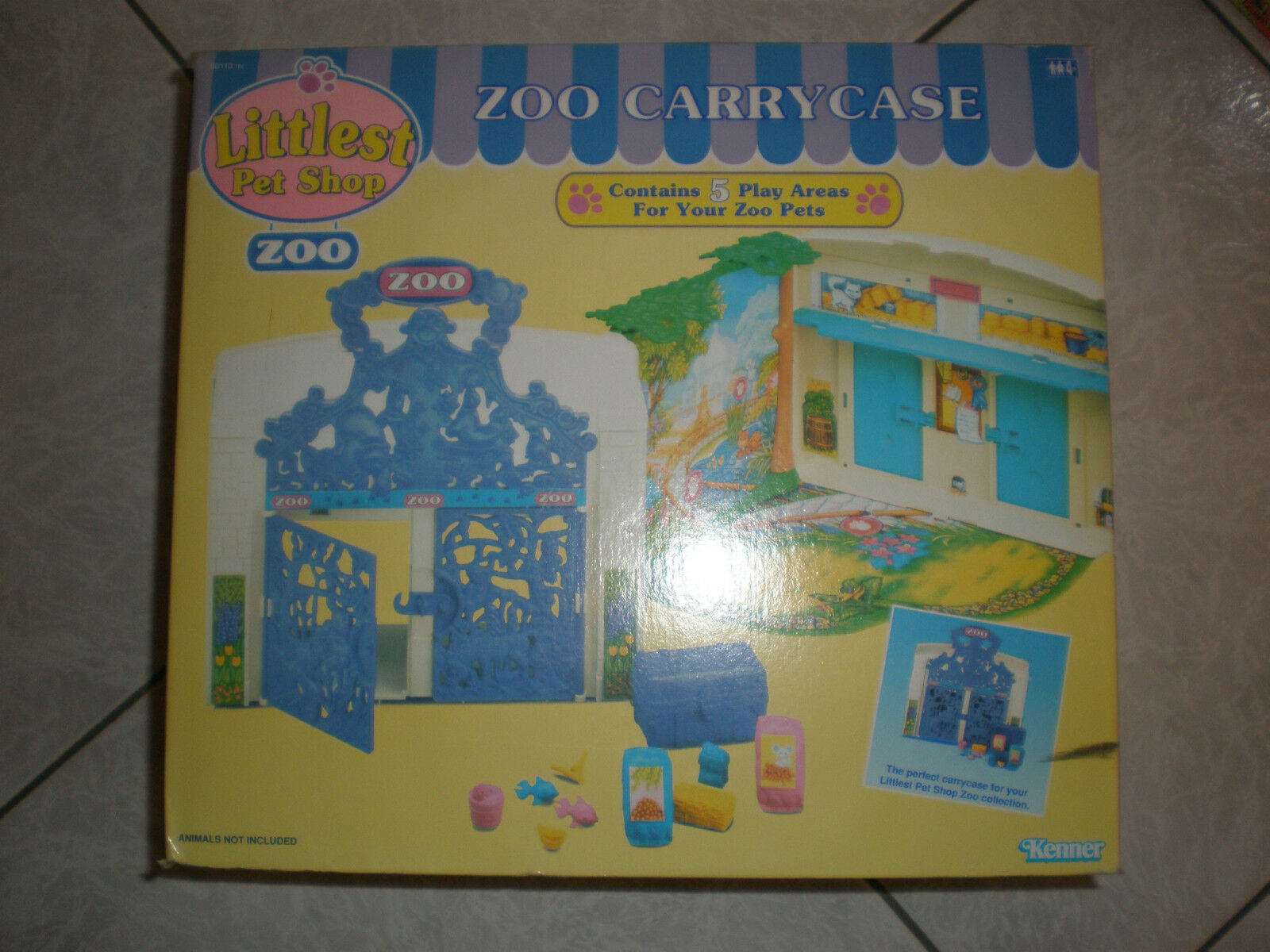 1994 KENNER LITTLEST PET SHOP ZOO CARRY CASE MIB HUGE