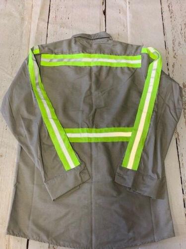 New High Visibility Hi Vis Enhanced Reflective Safety Work Shirts Light Grey