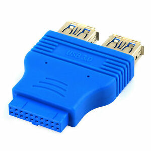 Motherboard-2-Ports-USB-3-0-Female-to-20-Pin-Header-Female-Connector-Adapter-ge