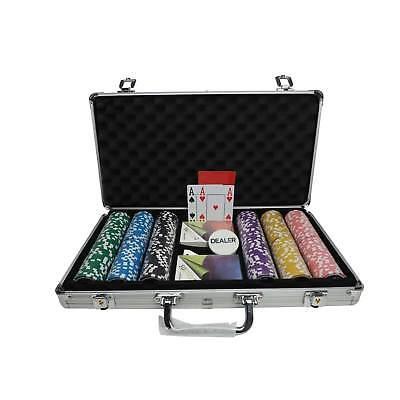 Pokerkoffer Pokerset Pro 300 13g Clay Chips selbst zusammenstellen Plastikkarten