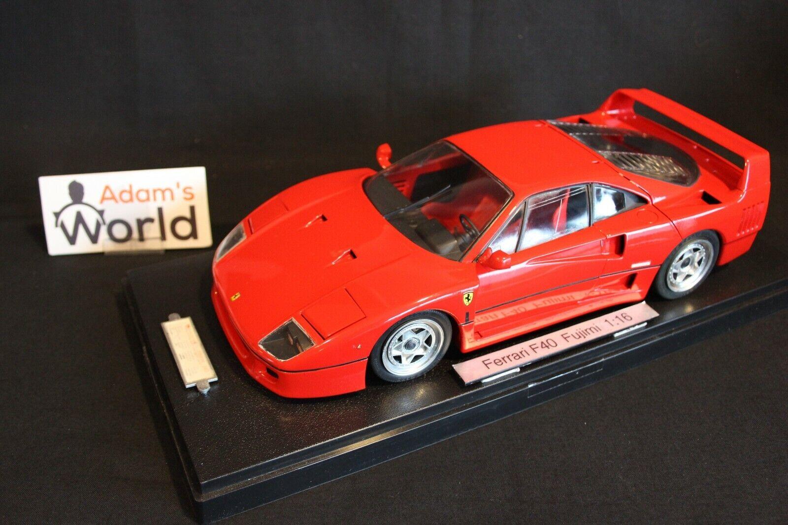 Fujimi built kit Ferrari F40 1 16 rosso (PJBB)
