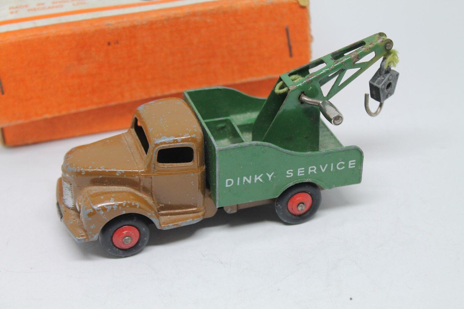 Dinky Juguetes 25x  Commer breakdown Lorry  1959  embalaje original  marrón verde  1 43