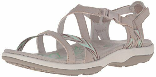 8bf0445940b Skechers 9 M 40780 Taupe Reggae Slim Keep Close Gladiator Sandals Memory  Foam