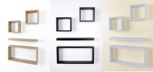 Etonnant Unit Set Of 4 Wood Wooden Floating Storage Display Wall Cubes Cube Shelf  Shelves