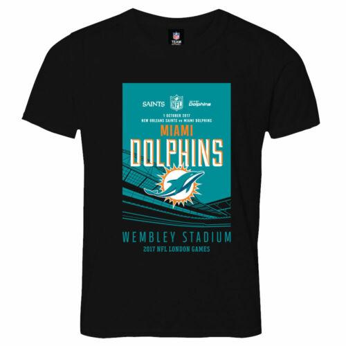 C91 Kids 9-10yrs Miami Dolphins London Games 2017 Team T-Shirt
