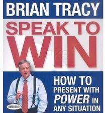 New 4 CD Speak to Win Brian Tracy Public Speaking
