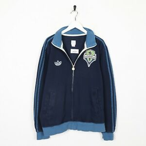 Vintage-ADIDAS-ORIGINALS-Zip-Up-Hoodie-Sweatshirt-Jumper-Blue-Medium-M