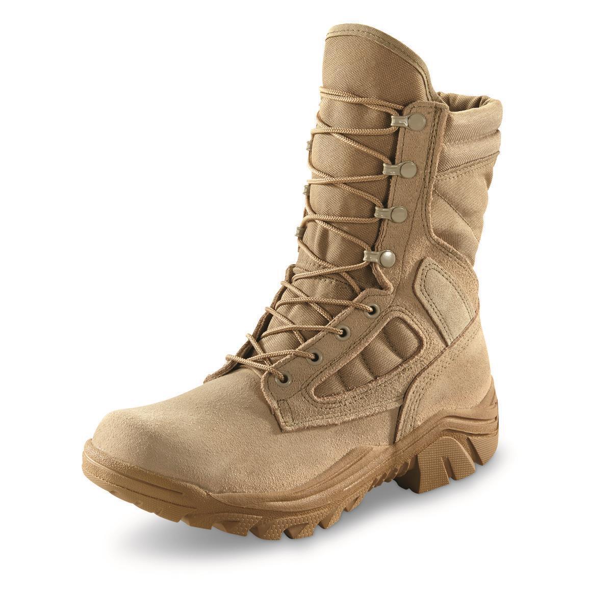 NEW CORCORAN Men's 8  Hot Weather Broad Toe Combat Boots Tan