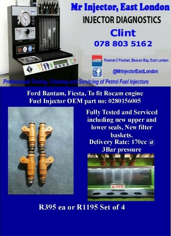 Ford Bantam, Fiesta, To fit Rocam engine Fuel Injector OEM part no: 0280156005