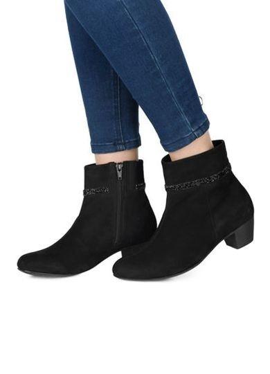 Zapatos talla señora zapatos botas botín de cuero bosque alfil talla Zapatos 8 (42) ancho H 0c3931