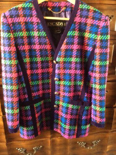 Tweed Laine Ley En Multicolore 8 By Mélangée Sz Escada Margaretha Vintage Veste fwq1fg7S