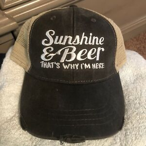 3338649d Details about Sunshine And Beer That's Why I'm Here Trucker Hat