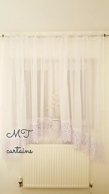 Amazing Stunning Voile Net Curtains Ready Made /& Ready to hang White 500 x 150