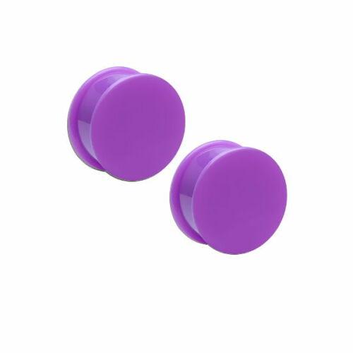 2er set de silicona bollos túnel oreja ear Plug hider retainer piercing