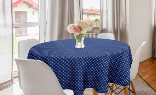 Ambesonne Retro Scenes Round Tablecloth Table Cover for Dining Room Kitchen