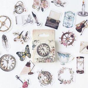 46X-Retro-Mini-Paper-Sticker-Decoration-Diary-Scrapbooking-Sticker-School-Supply