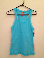Jenni By Jennifer Moore Ribbed Lace Trim Tank Top 43107 - Choose Color/sz