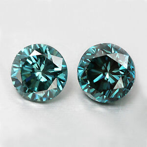 2x-Blaue-Diamanten-Paar-Rund-Brilliant-Blue-SI1-3-00mm-0-22-ct