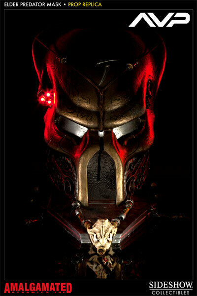 Elder Predator Ceremonial Mask Prop Replica Replica Replica 1 1 Sideshow Collectibles AVP 4a555c