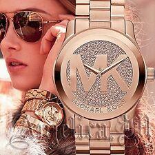 Original Michael Kors Uhr Damenuhr MK5661 Runway XL Farbe:Rose Gold Besatz NEU