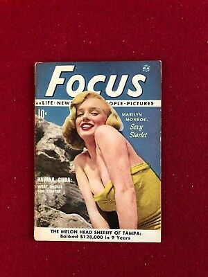"scarce 1951 Marilyn Monroe ""focus"" Magazine Sufficient Supply"