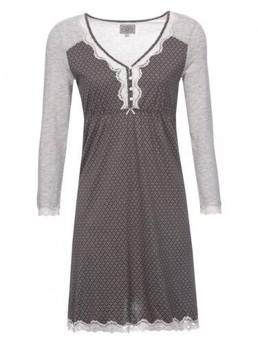 VIVE MARIA Damen Nachtkleid Nachthemd Nightdress Spitze edler All Over Druck