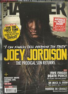 METAL HAMMER MAGAZINE AUGUST 2016 JOEY JORDISON W/ 3 FREE GIFTS