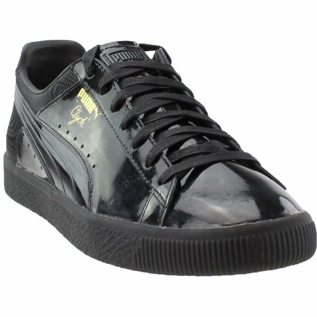 PUMA Clyde Men Fashion SNEAKERS Size 13 Black Patent Leather for ... 9db7e1e55