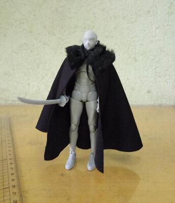 """1:6 Black Ancient Soldier Odin Side Shoulder cloak Coat For 12/"""" Figure Body"""