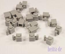 LEGO - 20 x Stein 1x1 hellgrau mit Stange / Halter / Eisenbahn / 2921 NEUWARE