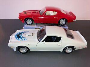 (2) ERTL American Muscle 1973 Pontiac Trans Am, 1:18 scale, Please read.