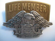 HARLEY OWNERS GROUP HOG LIFE PIN NEW STYLE  BADGE PINS