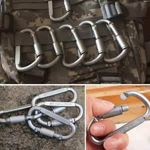 5-Silber-Karabinerhaken-Aluminium-Karabinerhaken-Verbinder-D-Ring-fuer-Camping-DE