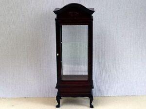 Dolls House Miniature 1/12th Scale Queen Anne Curio Cabinet | eBay