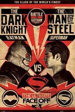 DC COMICS Batman VS Superman Poster FACE OFF Battle for Gotham City LARGE SIZE