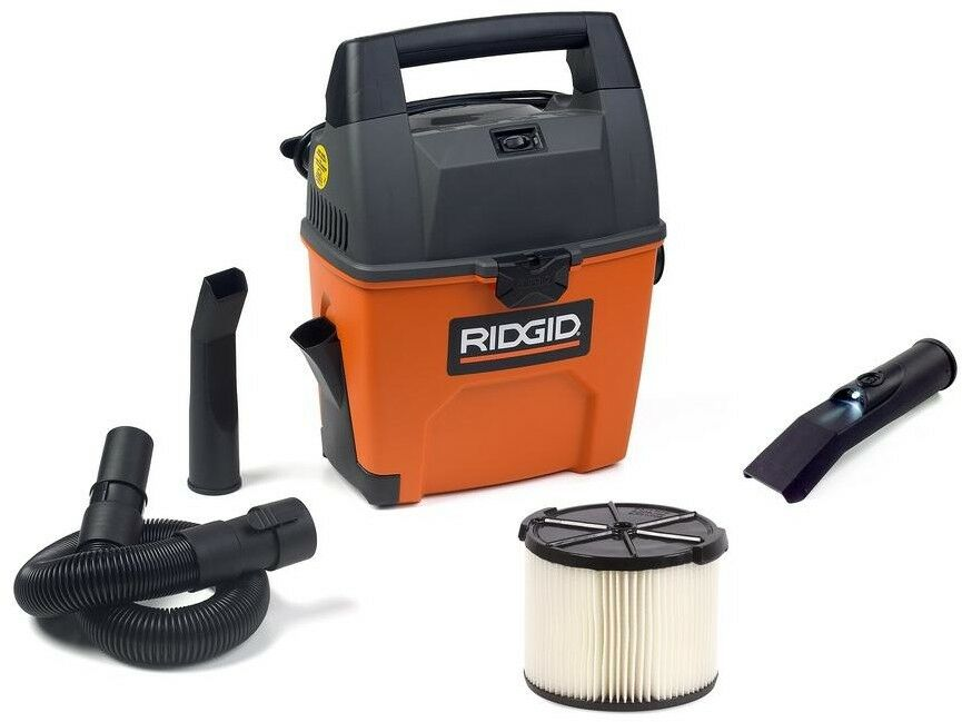 RIDGID 3 Gal. 3.5-Peak HP Portable Pro Wet Dry Vac Floor Shop Cleaning Vacuum