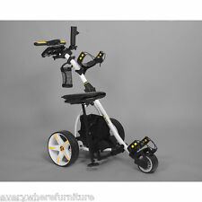 2017 Bat Caddy WHITE X3 Electric Motorized Golf Push Cart Trolley w/ ACCESSORIES