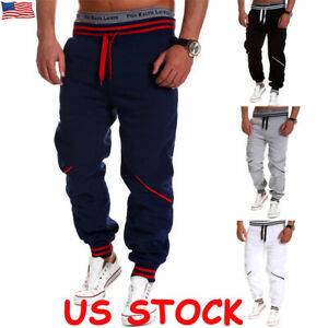 1e14ae0b Image is loading Men-Gym-Slim-Fit-Trousers-Tracksuit-Bottoms-Skinny-