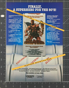 The TOXIC AVENGER__Original 1987 print AD / ADVERT / vid promo_TROMA_Mitch Cohen