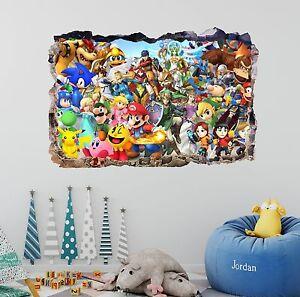 Super Mario Bros 3D Wall Decal Mural Art Home Decor Removable Sticker Vinyl DA07